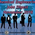 Chemical Engineering Jobs Digest November 2016