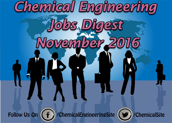 Chemical Engineering Jobs November 2016