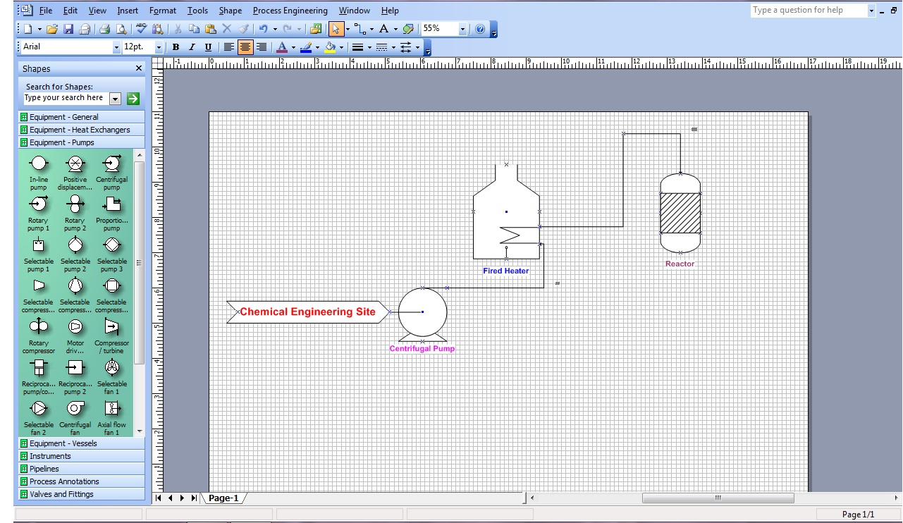 Ms visio for chemical engineers chemical engineering site ms visio pfd process flow diagram pfd and piping and instrumentation diagram p id can be prepared with the help of this software easily ccuart Image collections