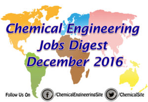 Chemical Engineering Jobs December 2016
