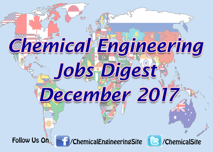 Chemical Engineering Jobs December 2017
