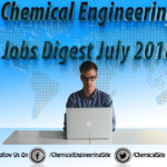 Chemical Engineering Jobs Digest July  2018
